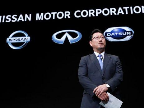 Yoon Seki, stellvertretender Chief Operating Officer von Nissan, bei einer Pressekonferenz in Yokohama